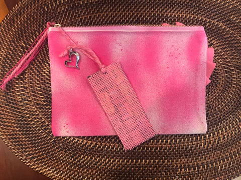 """Think Pink Zippered Pouch & Bookmark"" Class"