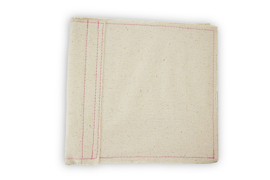 Canvas Ringed Book 6 x 6 - Pink Stitching