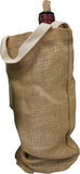 Wine Bag - Canvas or Burlap Wine Totes with handles