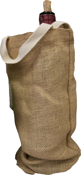 Wine Bag Canvas Or Burlap Wine Totes With Handles