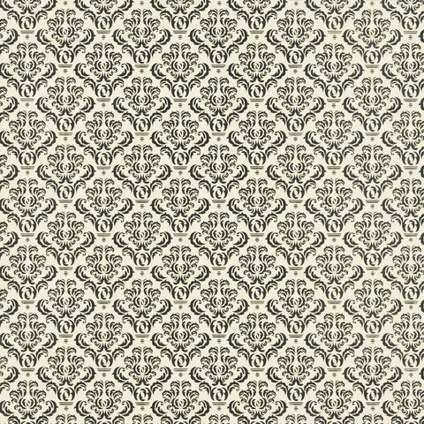 Tissuestock 12x12  - Damask on Ivory