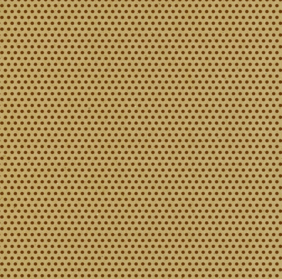 Chocolate and Kraft Mini Dot Paper
