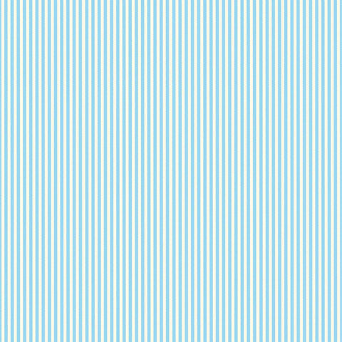 Blue & Ivory Ribbon Stripe Paper