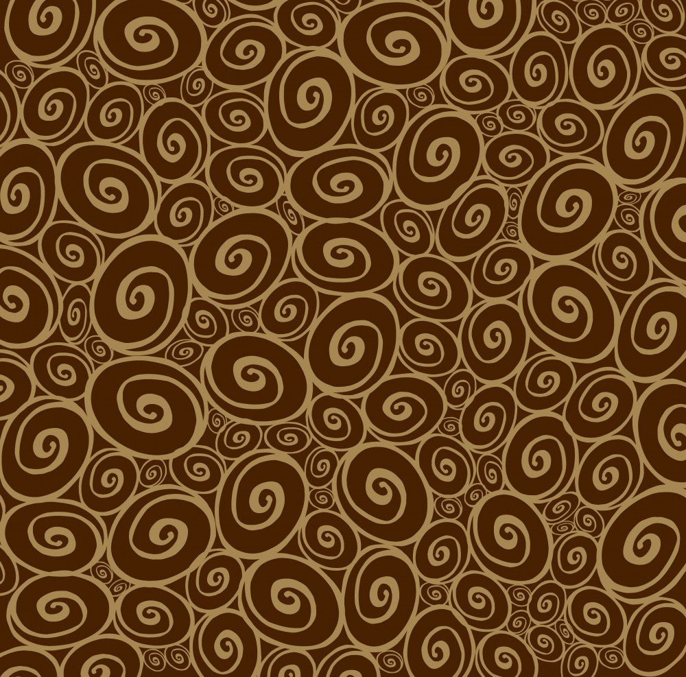 Chocolate and Kraft Swirls Reverse