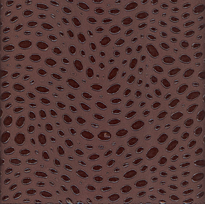 Handmade Paper - Embossed Spots Brown