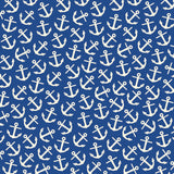Nautical: Navy and Ivory Anchor Paper