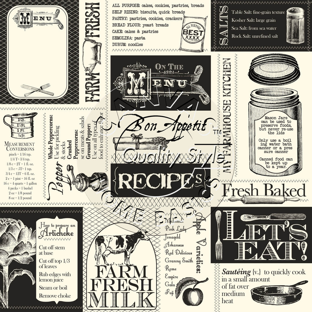 Farmhouse Kitchen Labels Paper