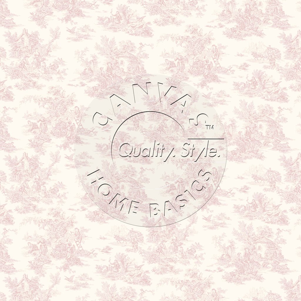 Pink & Ivory Toile Paper
