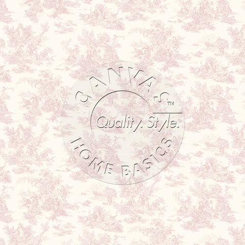 Pink & Ivory Toile