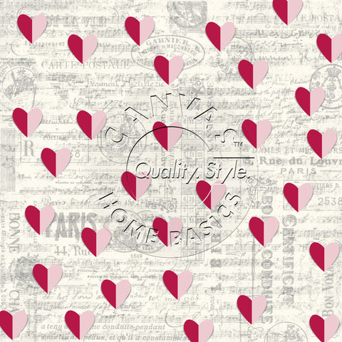 Paris Hearts on Ivory Paper