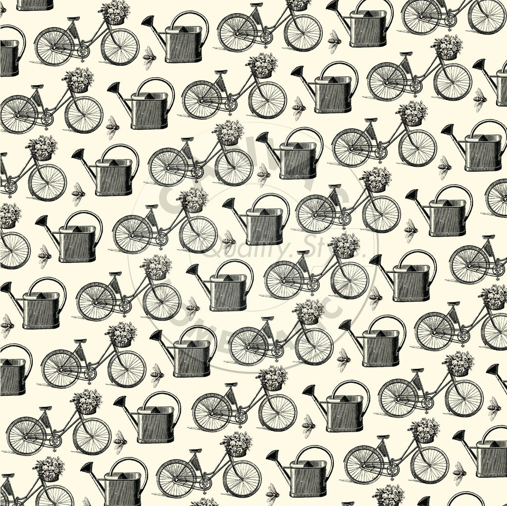 The Watering Can: Bikes and Baskets on Ivory