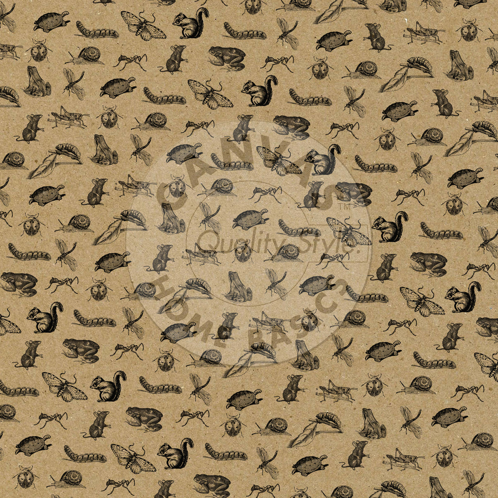 The Watering Can: Critters and Crawlers on Kraft Paper