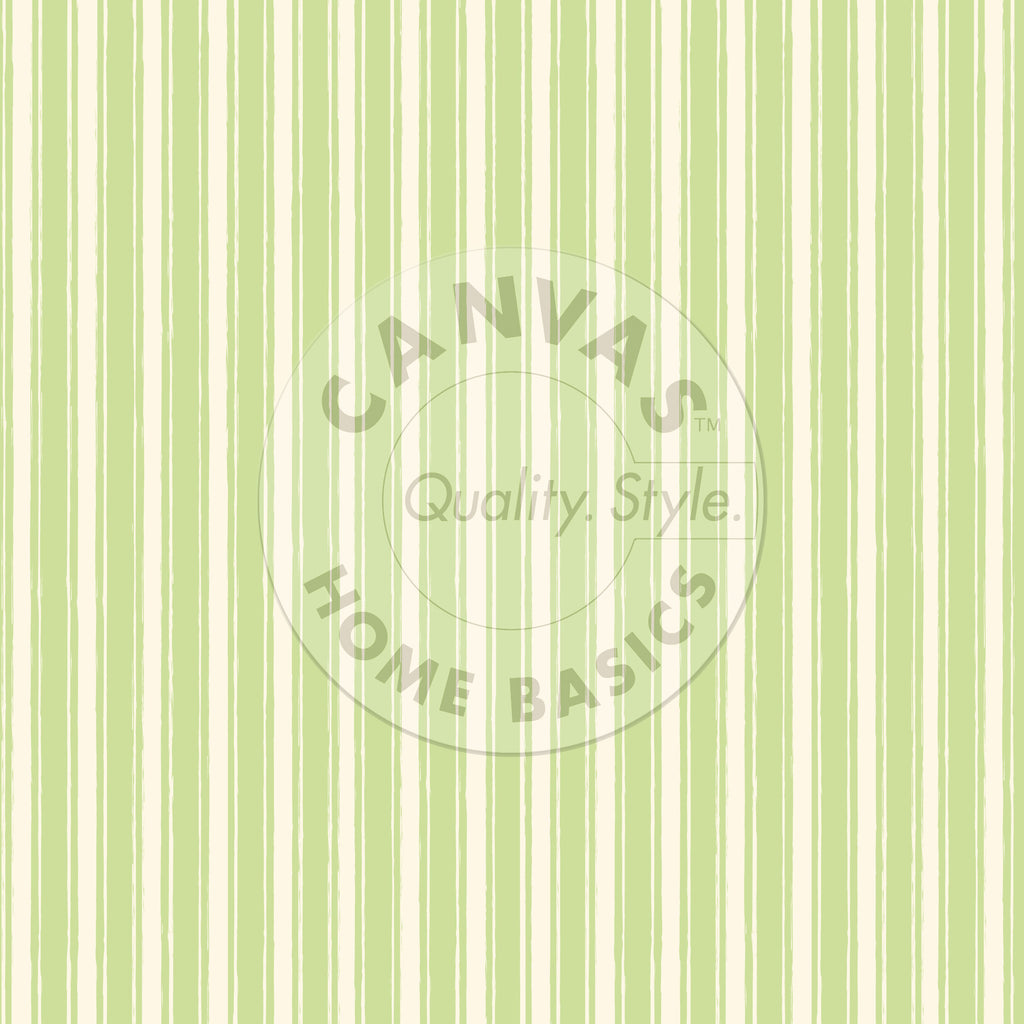Green and  Ivory French Linen Stripe Paper