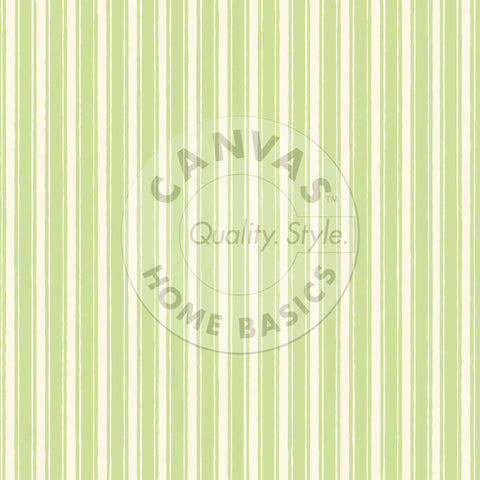 Green and  Ivory French Linen Stripe