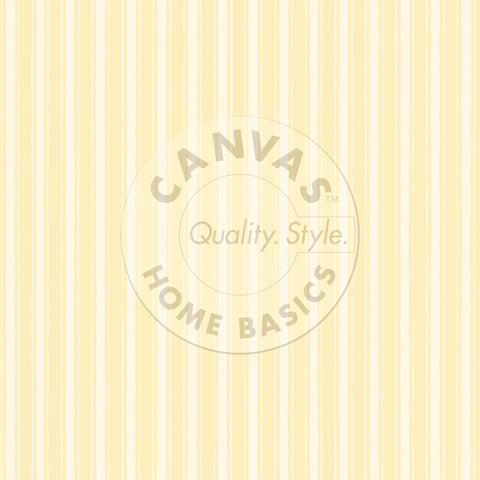Yellow & Ivory French Linen Stripe