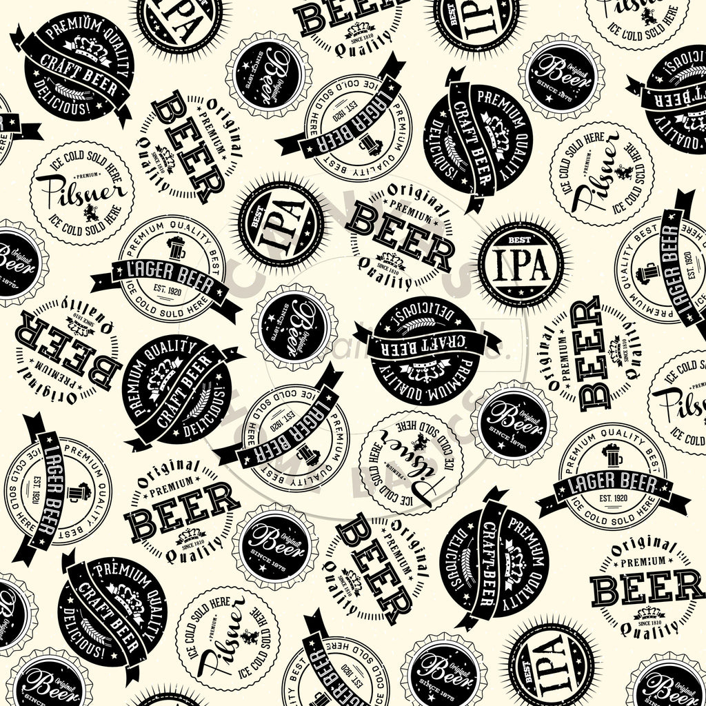 Vino & Ale: Brew Labels on Ivory Paper