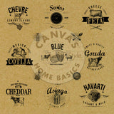Vino and Ale: Cheese Butcher Paper on Kraft Paper