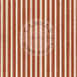Rust and Ivory French Linen Stripe Paper