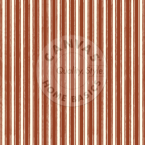 Rust & Ivory French Linen Stripe