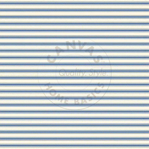 Navy and Ivory Ticking Paper