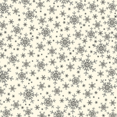 Heirloom Calendar Papers:  Sketched Snowflakes Paper