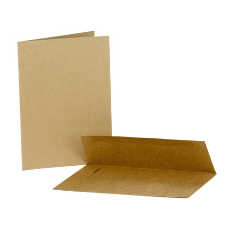 "Bulk Cards A7 5""x7"" Kraft - White - Ivory - Value Weight"