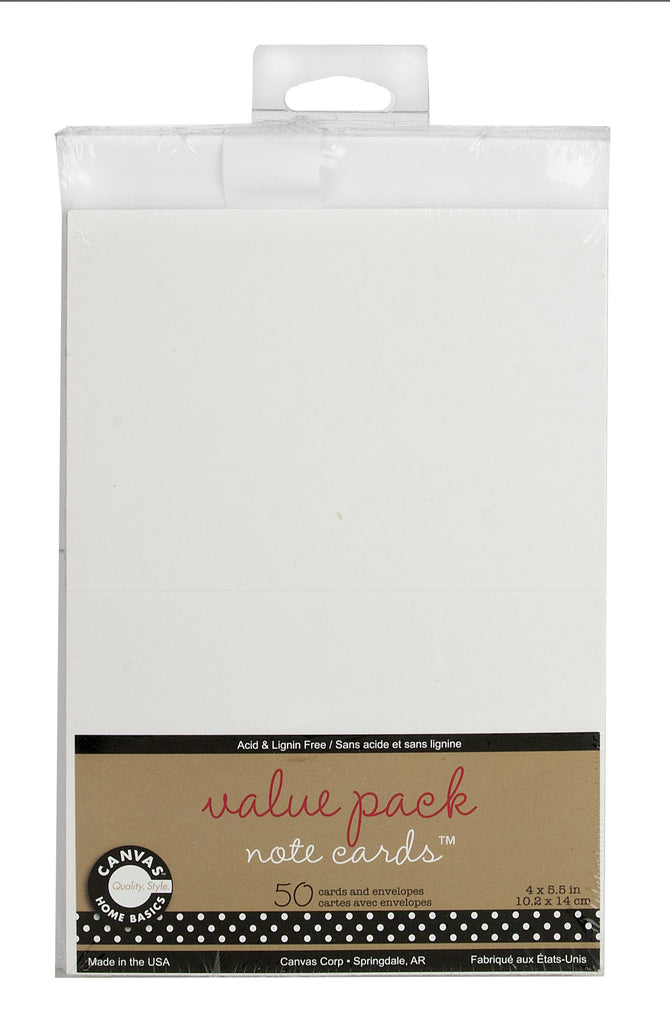 Value Weight White Note Cards and Envelopes Light Weight Cardstock