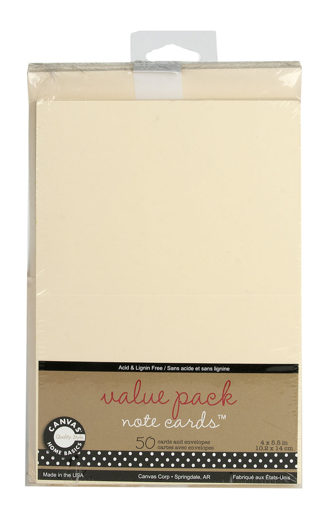 Value Weight Ivory Note Cards with Envelopes Light Weight Cardstock