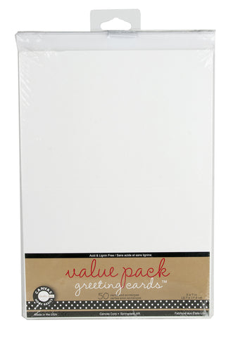 Value Pack Greeting Cards - White (50 card/env)