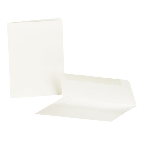 White Blank Heavy Duty Note Cards and Envelopes  - Cardstock Weight Paper