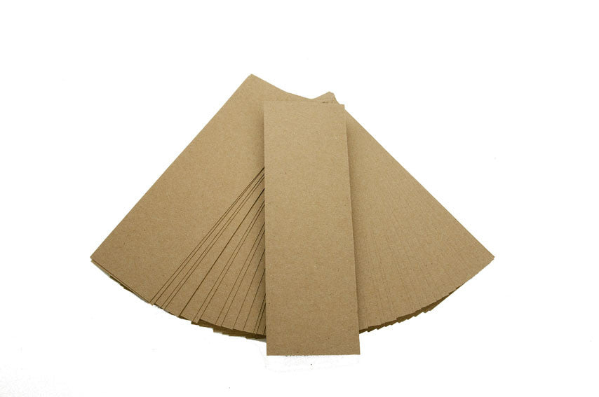 Bookmarks - Kraft 80 lbs recycled paper