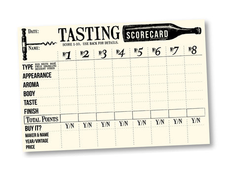 Tasting Cards - Ivory