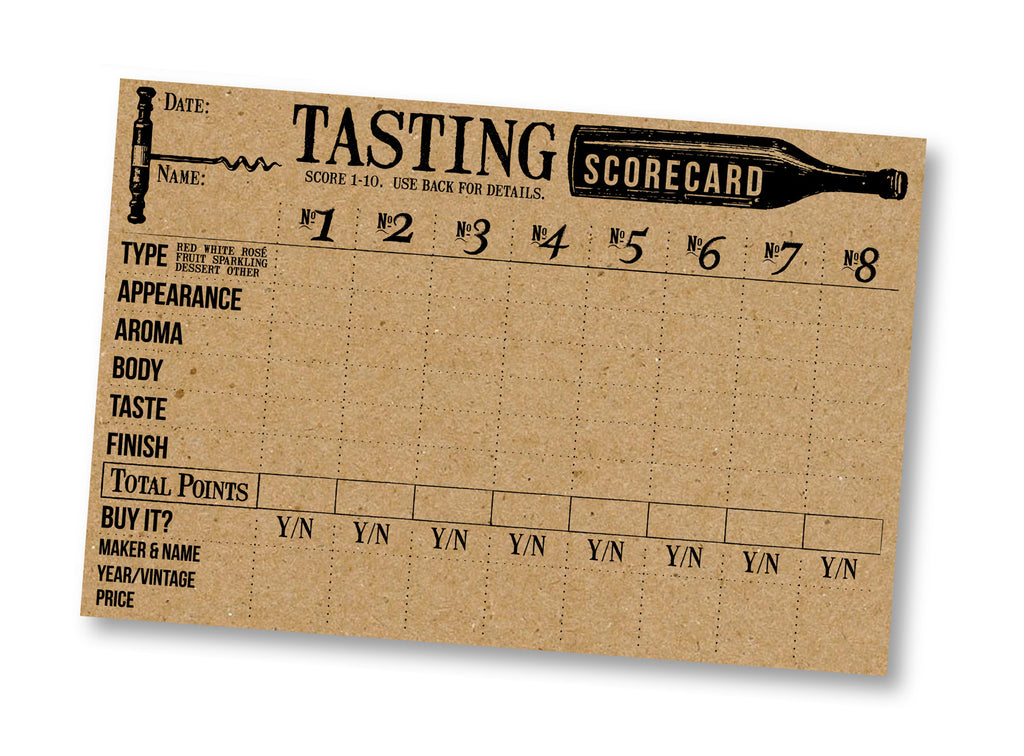 Wine Tasting Cards - Kraft