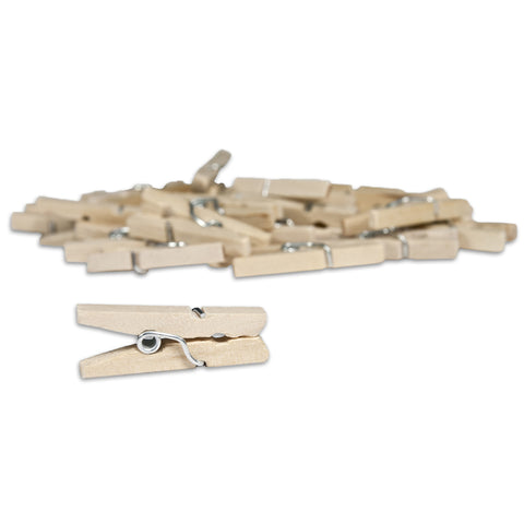 Mini Clothespins- Natural (25 pieces)