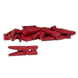 Mini Clothespins- Red (25 pieces)