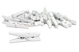 Mini Clothespins- White