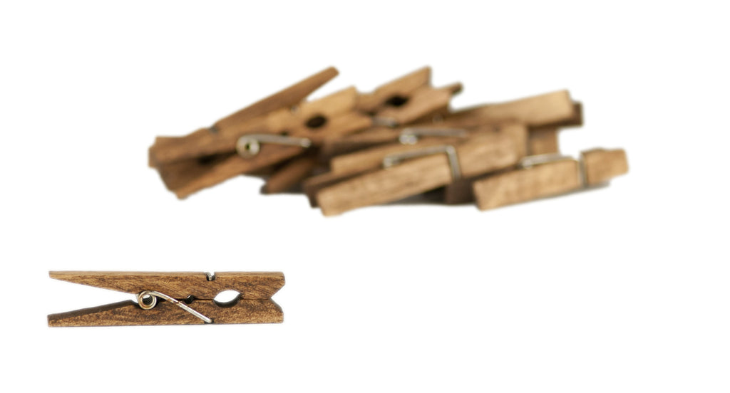 Small Clothespins Jacobean (12pcs)
