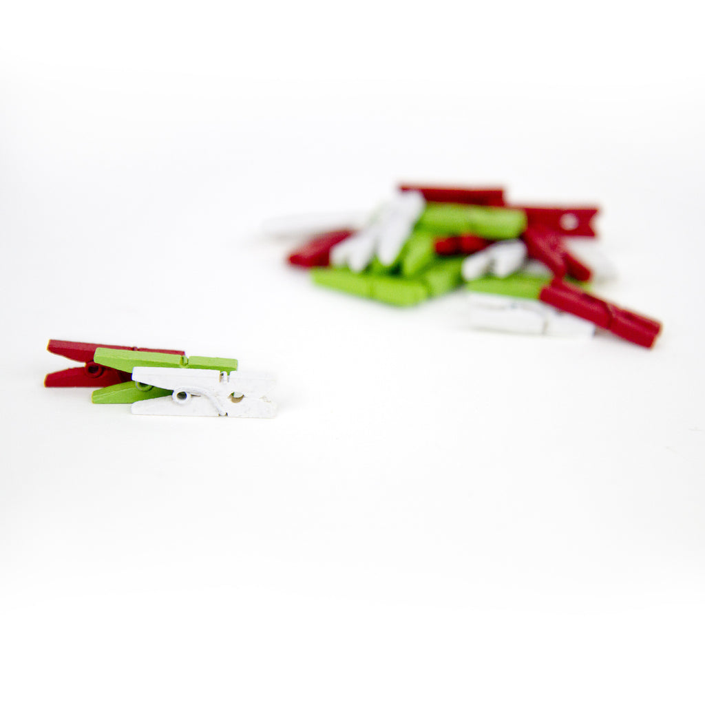 Mini Clothespins - Christmas (25 pieces)