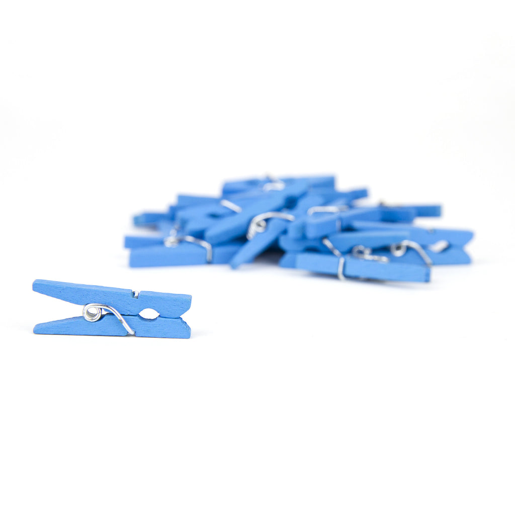 Mini Clothespins Turquoise (25 pieces)