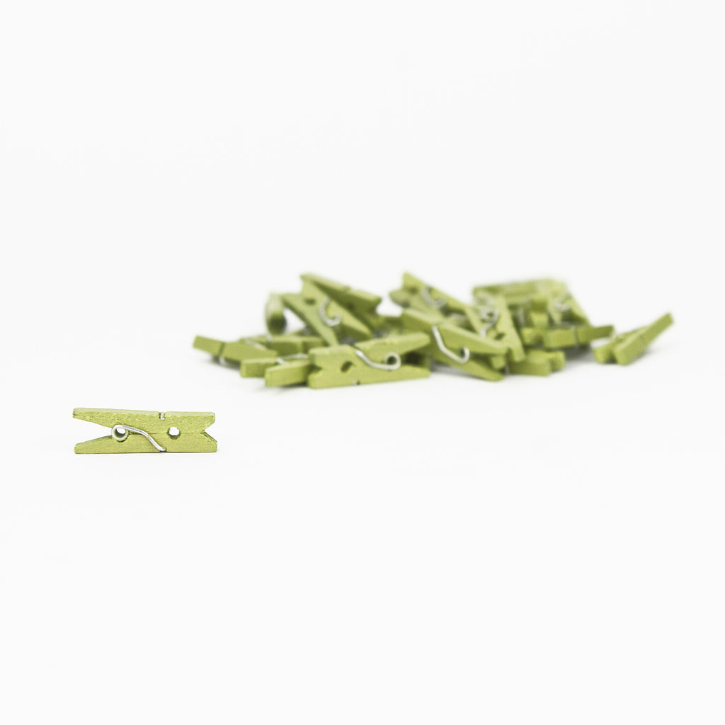 Mini Clothespins - Avocado (25 pieces)