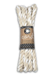 Cord - Twisted Hemp Rope Natural/White Hank 5'