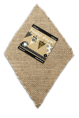 Burlap Banner Shape - Diamond