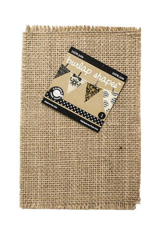 Burlap Banner Shape - Rectangle