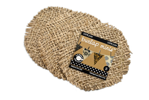 Burlap Mini  Shape - Round (3 pieces)