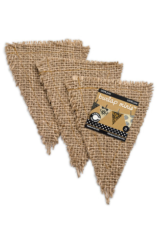 Burlap Mini  Shapes - Triangle (3 pieces)