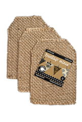 Burlap Mini  Shapes - Tag (3 pieces)