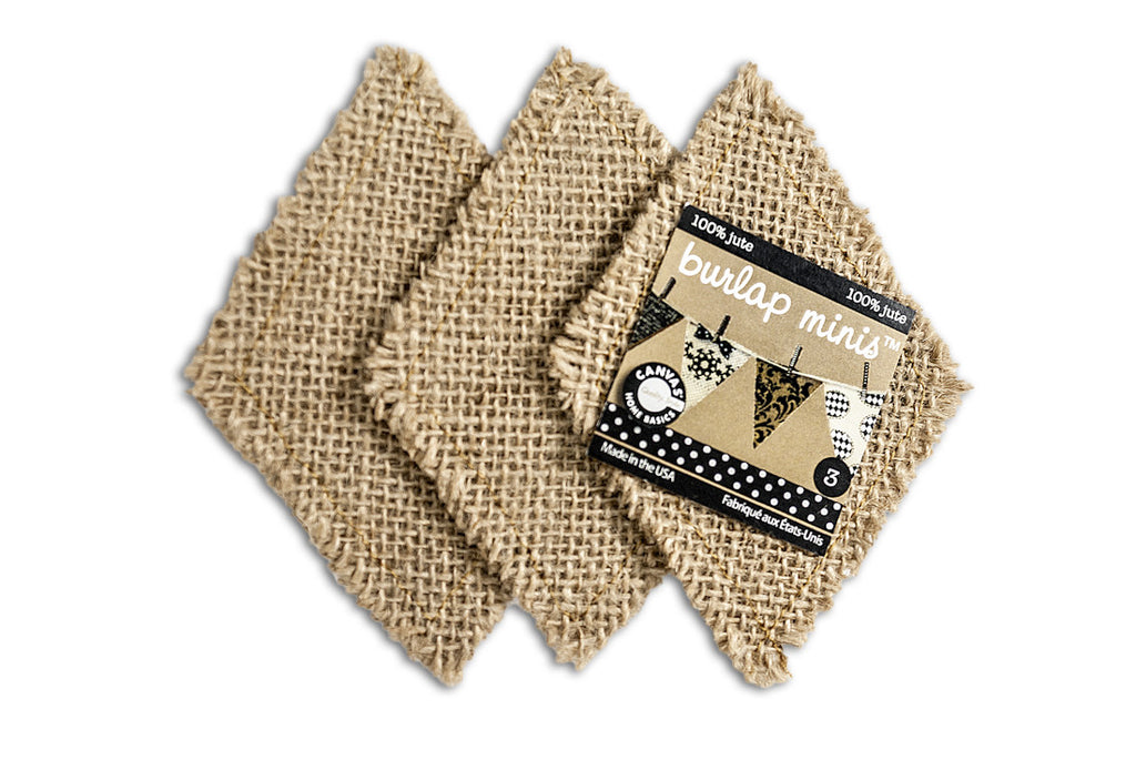 Burlap Mini  Shape - Diamond (3 pieces)