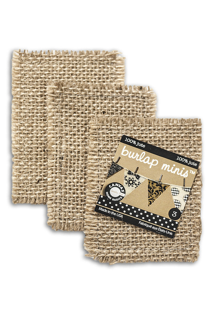 Burlap Mini  Shape - Rectangle (3 pieces)