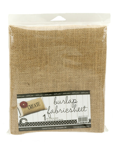 Burlap Fabric - Jute - Packaged (3 sizes)