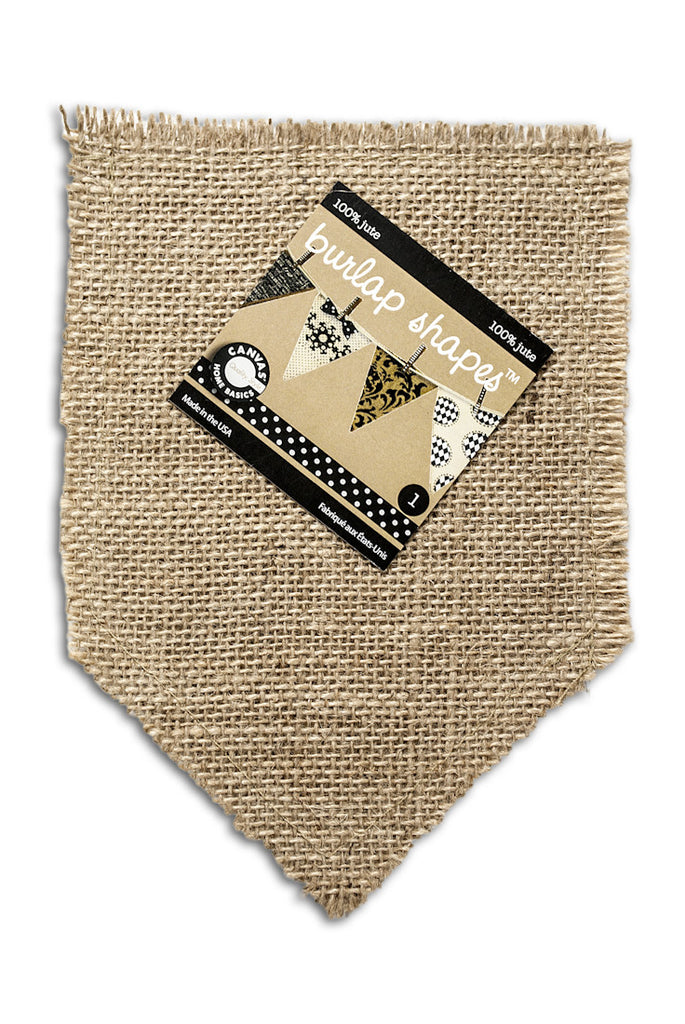 Burlap Banner Shape - Pocket